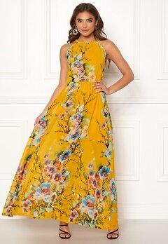 Blue Vanilla Floral Keyhole Maxi Dress Orange Bubbleroom.se