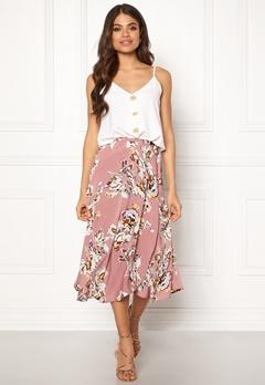 Blue Vanilla Floral Print Wrap Skirt Blush Bubbleroom.se