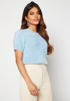 Blue Vanilla Fluffy Knit Top Blue Bubbleroom.se