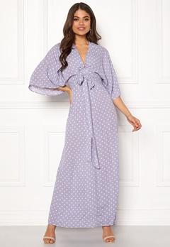 Blue Vanilla Kimono Sleeve Maxi Dress Lilac Bubbleroom.se