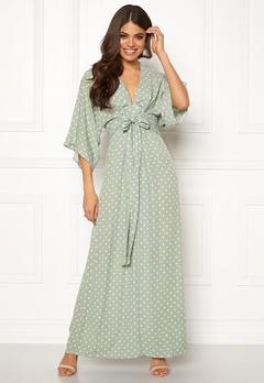 Blue Vanilla Kimono Sleeve Maxi Dress Mint Bubbleroom.se