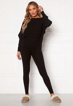 Blue Vanilla Knitted Slim Fit Trouser Jumper Set Black Bubbleroom.se