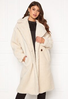 Blue Vanilla Oversized Teddy Coat Cream Bubbleroom.se