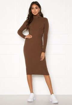 Blue Vanilla Rib Knit Midi Dress Chocolate Bubbleroom.se