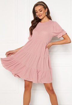Blue Vanilla Tiered Mini Dress Pink Bubbleroom.se