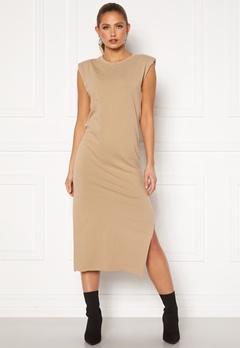 Bohemian Lounge Shoulder Pad Midaxi Dress Camel Bubbleroom.se