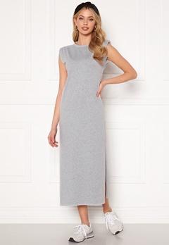 Bohemian Lounge Shoulder Pad Midaxi Dress Grey Bubbleroom.se