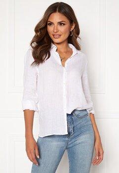 Boomerang Lina Linen Shirt White Bubbleroom.se