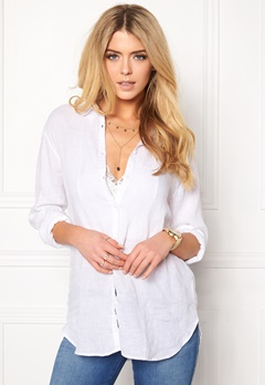 Boomerang Linn Linen Shirt 000 White Bubbleroom.no