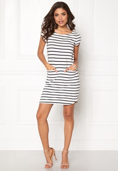 Boomerang Milly Striped Dress 001 Offwhite Bubbleroom.no