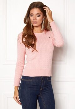 Boomerang Poppa Cable Sweater Pastel Pink Bubbleroom.no