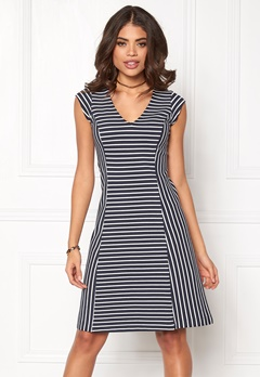 Boomerang Sol Striped Pique Dress 806 Midnight Blue Bubbleroom.se