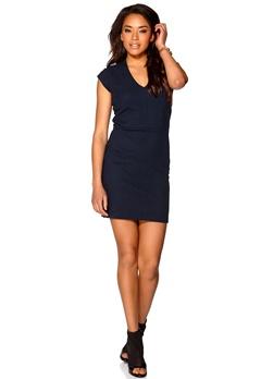 Boomerang Tinna Piqué Jersey Dress 806 Midnight blue Bubbleroom.se