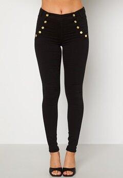BUBBLEROOM Adina highwaist jeans Black Bubbleroom.se