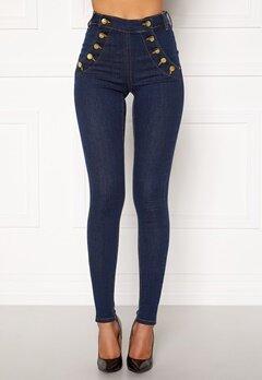 BUBBLEROOM Adina highwaist jeans Midnight blue Bubbleroom.se