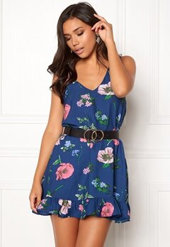 BUBBLEROOM Adriana dress Dark blue / Floral Bubbleroom.se