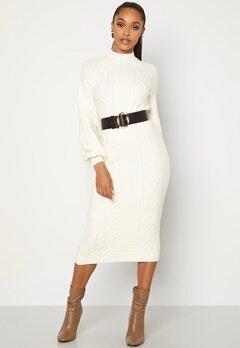 BUBBLEROOM Aisha knitted dress White Bubbleroom.se