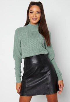 BUBBLEROOM Aisha knitted sweater Dusty green bubbleroom.se