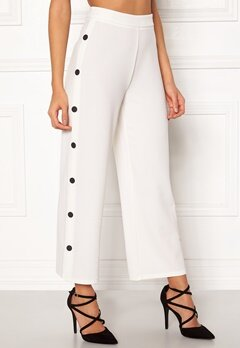 BUBBLEROOM Alexa button trousers White / Black Bubbleroom.se