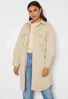 BUBBLEROOM Alice Long Shirt Jacket Beige Bubbleroom.se