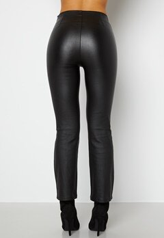 BUBBLEROOM Alicia coated kickflare trousers Black bubbleroom.se