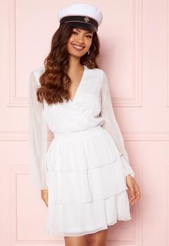 BUBBLEROOM Alina Frill Dress White Bubbleroom.se