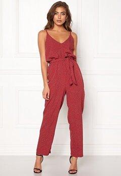 BUBBLEROOM Amal jumpsuit Red / Dotted Bubbleroom.se