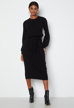 BUBBLEROOM Amira knitted dress Black bubbleroom.se