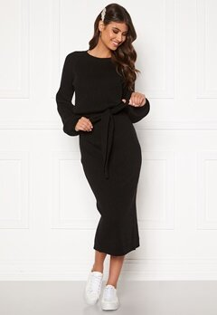 BUBBLEROOM Amira knitted dress Black Bubbleroom.se