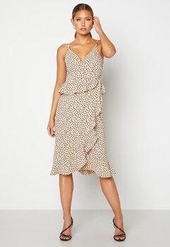 BUBBLEROOM Analisa dress Beige / Black / Dotted Bubbleroom.se