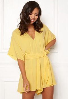 BUBBLEROOM Andy kimono playsuit Light yellow Bubbleroom.se
