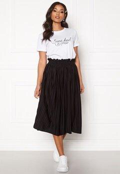 BUBBLEROOM Anna midi pleated skirt Black Bubbleroom.se