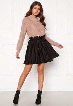 BUBBLEROOM Anna short pleated skirt Black Bubbleroom.se