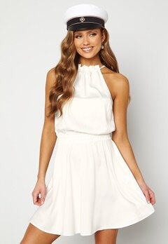 BUBBLEROOM Anya High Neck Dress White Bubbleroom.se