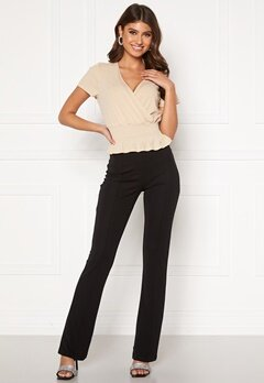 BUBBLEROOM Ari comfy suit trousers Black Bubbleroom.se