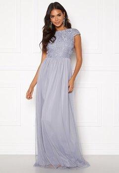 BUBBLEROOM Ariella prom dress Dusty blue Bubbleroom.se