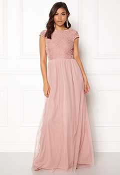 BUBBLEROOM Ariella prom dress Dusty pink Bubbleroom.se