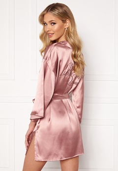 BUBBLEROOM Aylin Robe Dusty pink Bubbleroom.se