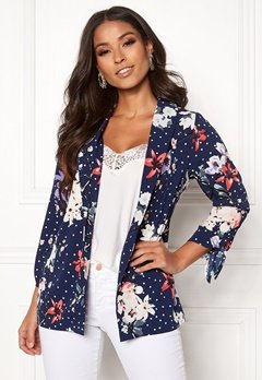 BUBBLEROOM Barbara soft blazer Blue / Dotted Bubbleroom.se
