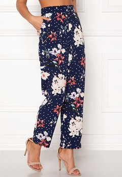BUBBLEROOM Barbara trousers Blue / Floral / Dotted Bubbleroom.se