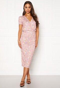 BUBBLEROOM Becky wrap dress Pink / Floral Bubbleroom.se