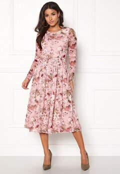 BUBBLEROOM Bella mesh dress Pink / Floral Bubbleroom.se