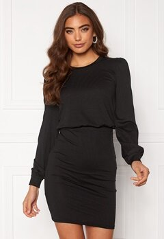 BUBBLEROOM Besa long sleeve short dress  Black Bubbleroom.se
