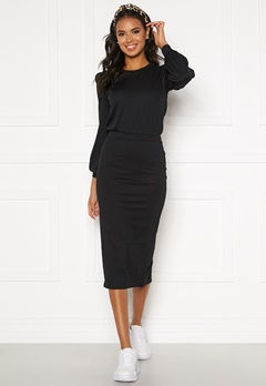 BUBBLEROOM Besa rib dress Black Bubbleroom.se