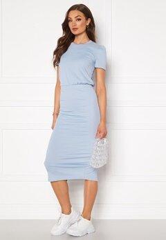 BUBBLEROOM Besa short sleeve dress Blue Bubbleroom.se