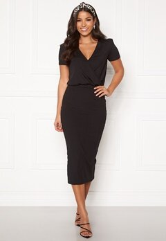 BUBBLEROOM Besa wrap dress Black Bubbleroom.se