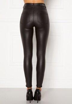 BUBBLEROOM Bianca coated jeans Black Bubbleroom.se