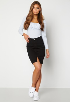 BUBBLEROOM Bianca denim skirt Black Bubbleroom.se