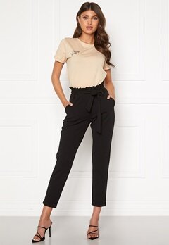 BUBBLEROOM Bonita soft paperbag pant Black Bubbleroom.se