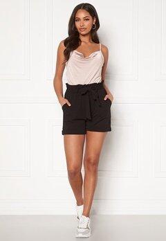 BUBBLEROOM Bonita soft paperbag shorts Black Bubbleroom.se